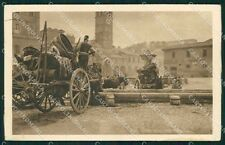 Roma Città Piazza Bocca della Verità Carro da Vino PIEGA cartolina QT2313