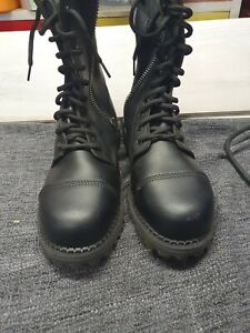 Demonia tall boots size 9, black zip up bought never used