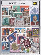 25 MotivBriefmarken  Papst Päpste pope popes papa pontifice Pontifex