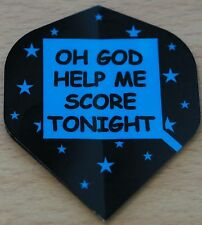 "10 Sets (10x3)  ""Oh God Help Me Score Tonight"" Metronic Dart Flights"