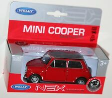 Welly - MINI COOPER 1300 (Red + Black Roof) Model Scale 1:34-1:39