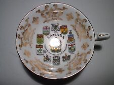 Vintage Paragon Bone China Cabinet Cup - Canada Coats Of Arms & Emblems