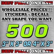 """500 CUSTOM STICKERS 3""""X 3"""" OR 4""""X 3"""" / DECALS / ELECTION POLITICAL BEST PRICE"""