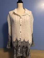 Maggie Barnes 4XL Top Shirt Blouse Tunic Button Down Pleated(6)