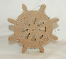 Free standing SHIPS WHEEL wooden craft shape MDF 18mm thick
