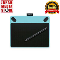 WACOM Intuos Draw S Size Pen Touch Tablet CTL-490/W0 Blue Manga illustration