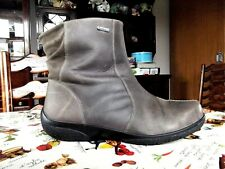 "HOTTER""HORIZON""LADIES LOVELY MUSHROOM [TAUPE] LEATHER,ZIPPED ANKLE BOOTS-SZ UK 6"