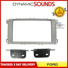 CT23FD08 Double Din Stereo (Silver) Fascia Panel Surround For FORD Focus 2007-11