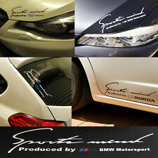 Reflective Stylish Decal Sticker Sport Mind BMW Emblem H: 9cm x W: 25cm Silver