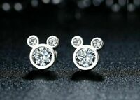 2.00ct Round Diamond Mickey Mouse Stud Women's Earrings 14k White Gold Finish