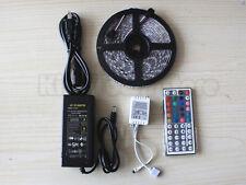 5M SMD RGB 3528 Waterproof LED Strip light 300 & 44 Key Remote &12V Supply Power