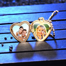 Childrens Locket Heart Frame Pendant Fit necklace Yellow Gold Filled Child lot