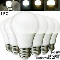 White E27 85-265V 5/7/9/12W LED Globe Bulb Light Lamp Home Energy Saving Bulbs