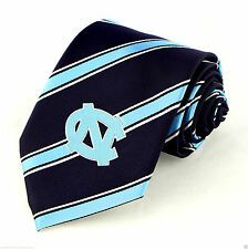 North Carolina Tarheels Men's Necktie University College Striped Blue Neck Tie