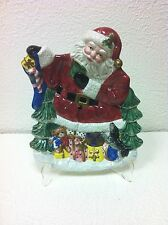 "Omnibus Fitz Ans Floyd Toyland Santa 10"" Serving Plate Brand New In Box!"