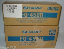 Oem Sharp FO-45ND Black Toner Cartridge and  FO-45DR Drum Cartridge 4500,5500