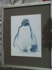 Rockhopper Penguin. Framed, Signed and Numbered Print by Judy Sale