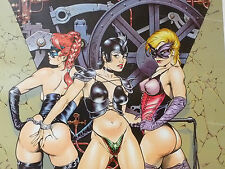 Dave Stevens Rare Hand Signed Personally Limited Edition Three Semi-Nude Women Comic Art