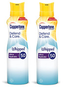 Coppertone Defend and Care Whipped Ultra Hydrate Sunscreen SPF 50, 5 Oz (2 Pack)
