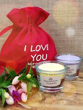 Gift Set❤️Glass Candles x2❤️Presentation Bag❤️I Love You❤️Personalised Gift Card