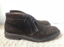 """Men's ALLEN EDMONDS """"Dundee"""" Brown Suede Chukka Boots- Size 8.5E Wide"""