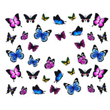 30 pcs Butterfly Water Slider Sticker Quick Nail Art Design Manicure at home