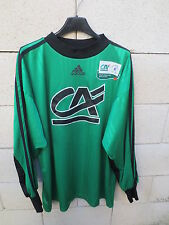 VINTAGE Maillot porté n°1 ADIDAS goal vert worn shirt Championnat National XL