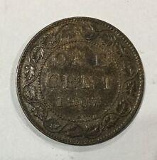 Canada 1907 H Heaton Mint   Key Date Large Cent Slight  Die Clash Pleasing Coin