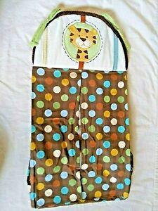 NoJo Baby Nursery Jungle tales Diaper Stacker Multicolored Polka Dots Tiger