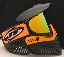 NEW JT Proflex Paintball Goggle Mask Orange Black Thermal Prism Lens KM Strap