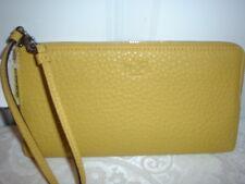NWT Coach Bleeker Leather L Zippy Wallet Wristlet 51981 Saffron Green