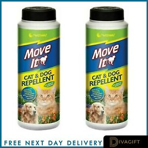 PET CAT & DOG REPELLENT POWDER ANIMAL NON TOXIC NATURAL FOR GARDEN PATIO UK