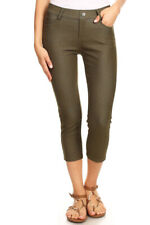Women's Cotton Blend Capri Jeggings Stretchy Skinny Pants Jeans Leggings