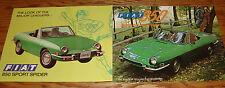 Original 1972 1973 1974 1975 ? Fiat 850 Sport Spider Sales Brochure Sheet Lot