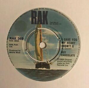 """Hot Chocolate- """"I Gave You My Heart (Didn't I)""""  7 (1984) VG+ / """"Jeannie""""/ LOG8"""
