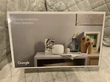 Google - Nest Wifi AC2200 Mesh System Router and Point (2-Pack) - Snow Brand New
