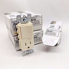 LOT OF 5 LEVITON T5625-A DECORA TAMPER RESISTANT SWITCH RECEPTACLE COMBO ALMOND
