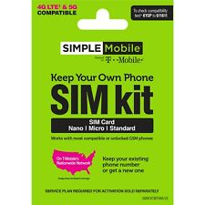 Simple Mobile SIM Card Activation Kit BYOP