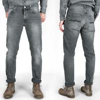 B-Ware Nudie Herren Slim Fit Jeans Hose | Tilted Tor Crispy Grey |W27 - W29