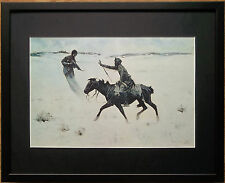 The Vision by Frederic Remington, 20''x16'' frame, Wild West wall art, Cowboys