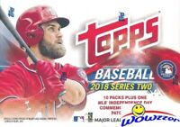 2018 Topps Series 2 Baseball EXCLUSIVE Factory Sealed Blaster Box-USA FLAG PATCH