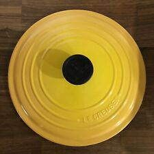 Lid Only Le Creuset Yellow Orange Gold Dutch Oven 5.5 Quart 5-1/2 #26 EUC!