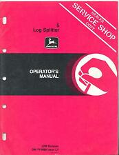 John Deere 5 Log Splitter Operator's Manual OM-TY3860