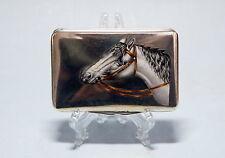 Tabak Pillen Dose Silber Emaille  Pferd   Austria enamel  cigarette case
