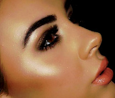 BARE ESCENTUALS GOLD GOSSAMER Face & Body Color + Tapered Shadow & Blush Brush