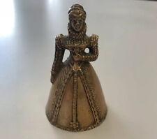More details for vintage brass bell figurine queen elisabeth 1