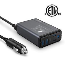 BESTEK 150W Power Inverter DC 12V to 110V AC Converter 4.2A Dual USB Car Thinner