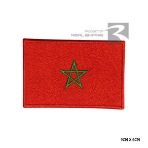 Morocco National Flag Iron on Sew on Embroidered Patch Badge For Clothes Etc