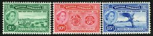 SG 191-193 BRITISH HONDURAS 1960 POST OFFICE CENTENARY SET - MOUNTED MINT