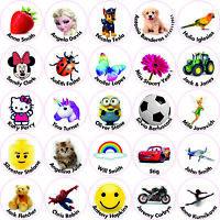 40 Personalised Custom Vinyl Stick On Name Labels Stickers School Kids Nursery